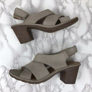 Clarks Soft Cushion Chunky Heels Sandals Size 10